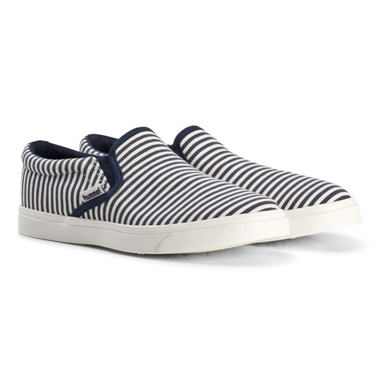 Hummel Black And White Peacoat Slip-On Stripe Shoes peacoat