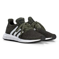 adidas Originals Khaki Swift Run Junior Sneakers BASE GREEN S15/FTWR WHITE/CORE BLACK