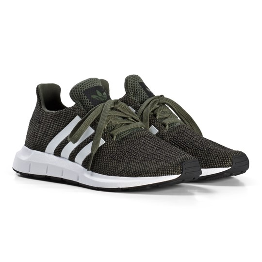 41cf3ef55a6 adidas Originals Khaki Swift Run Junior Sneakers BASE GREEN S15 FTWR  WHITE CORE BLACK