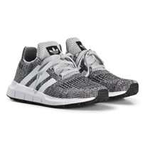 adidas Originals Gray Swift Run Kids Sneakers GREY TWO F17/FTWR WHITE/FTWR WHITE