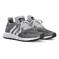 adidas Originals Gray Swift Run Junior Sneakers GREY TWO F17/FTWR WHITE/FTWR WHITE