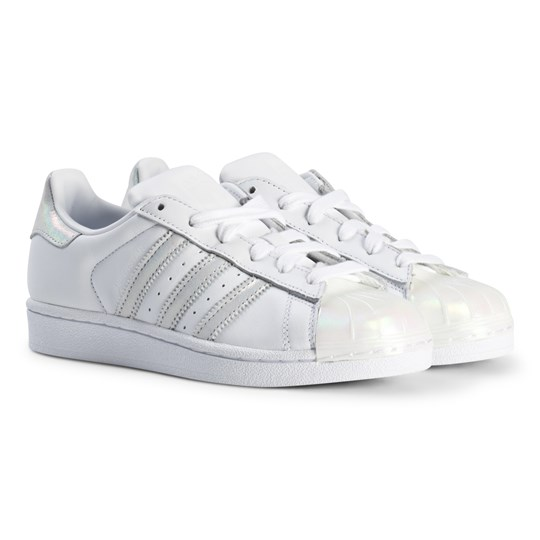 adidas Originals Silver and Metallic Junior Superstar Trainers FTWR WHITE/FTWR WHITE/FTWR WHITE