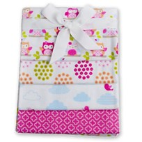Carlobaby 4-Pack Cotton Blanket Cerise/Pink Pink