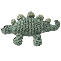 sebra Dino Crochet Rattle Green