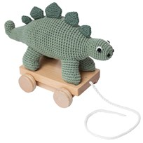 sebra Crochet Pull-Along Dino Green