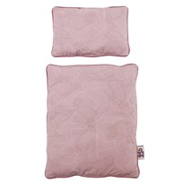 sebra Dolls Bed Linen Arctic Animals Pink