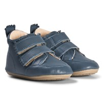 Easy Peasy Blue Izi V Leather Pre Walker Shoes 43