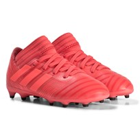 adidas Performance Red and Black Nemeziz 17.3 Firm Ground Football Boots REAL CORAL S18/RED ZEST S13/CORE BLACK