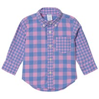 GAP Check Shirt In Maiden Pink MAIDEN PINK