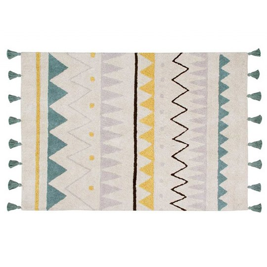 Lorena Canals Azteca Natural Matta Vintage Blue 120 x 160 cm environmentally friendly colors