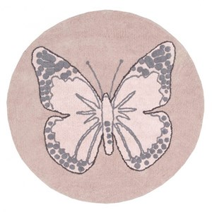 Image of Lorena Canals Round Butterfly Rug Vintage Nude 160 cm (3015417137)