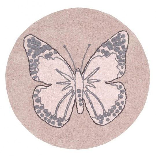 Lorena Canals Round Butterfly Rug Vintage Nude 160 cm environmentally friendly colors