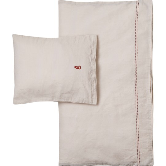 garbo&friends Vanilla Linen Junior Bed Set SE Vanilla Gray