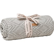 garbo&friends Ollie Grey Cotton Blanket Multi