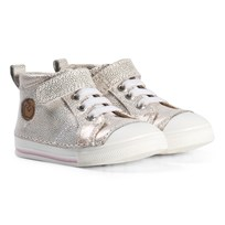 Shoo Pom Oki Pad Lace Point Sneakers White White/Cooper