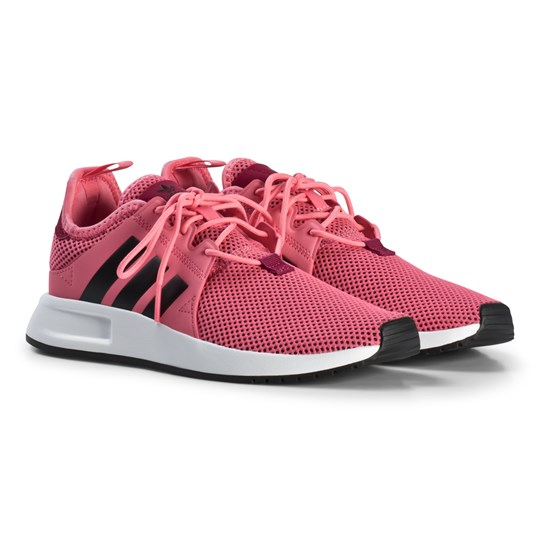adidas Originals Pink X PLR Junior Trainers CHALK PINK S18/CORE BLACK/FTWR WHITE