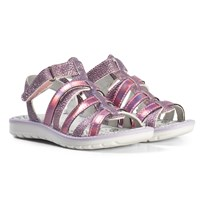 Primigi Pink Multistrap Metallic Sandals 13810