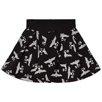 Boy London Black and White Eagle Repeat Skirt Black