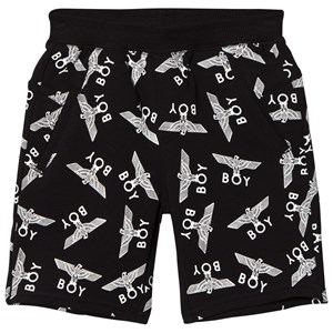 Image of Boy London Black and White Eagle Repeat Shorts 9-10 years (3015621623)