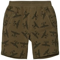 Boy London Khaki Eagle Repeat Jersey Shorts KHAKI/BLACK