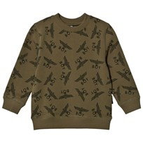 Boy London Khaki Eagle Repeat Sweatshirt KHAKI/BLACK