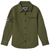 Boy London Khaki Eagle Embroidered Shirt KHAKI/BLACK