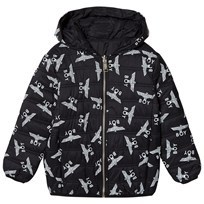 Boy London Black Eagle Print Reversible Down Hooded Jacket Musta