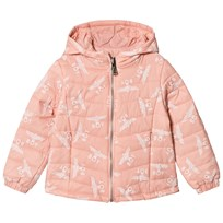 Boy London Pink Eagle Print Reversible Down Hooded Jacket Pink/White