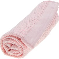 Vinter & Bloom Soft Grid Organic Blanket Blossom Pink Blossom Pink