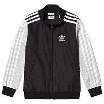 adidas Originals Grey and Black Bomber Jacket BLACK/CARBON S18/LIGHT GREY HEATHER/WHITE