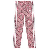 adidas Originals Pink Girls Paisley Printed Leggings MULTICOLOR/WHITE