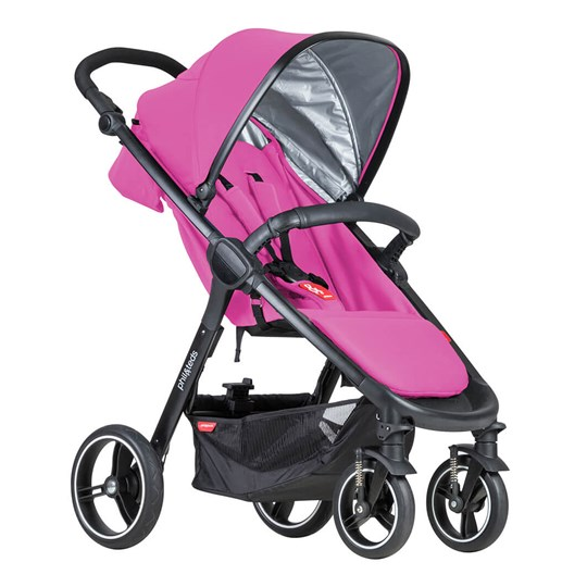 Phil and Teds Smart Stroller Raspberry 2018 Raspberry