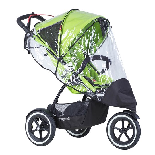 Phil and Teds Sport Single Stroller Storm Cover TRANSPARENT