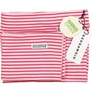 Image of Geggamoja Bamboo Bedding for Carrycot and Cradle Pink/Red (3015621691)