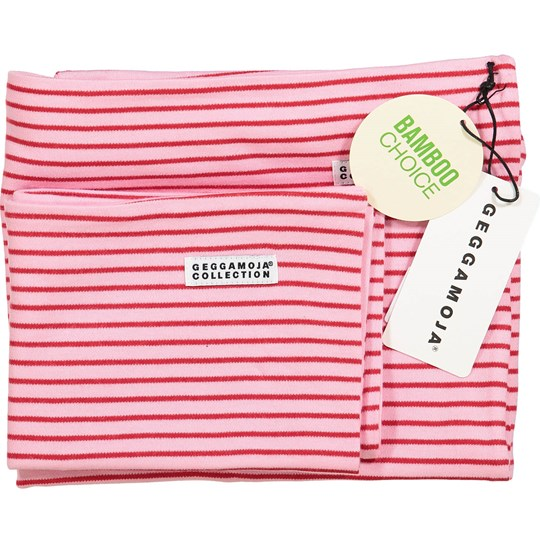 Geggamoja Bamboo Bedding for Carrycot and Cradle Pink/Red Red