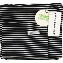 Geggamoja Bamboo Bedding for Carrycot and Cradle Black/White Black