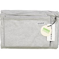 Geggamoja Bamboo Bedding for Crib Grey Melange/White Grey/White