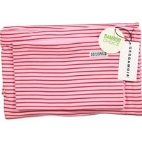 Geggamoja Bamboo Bedding for Crib Pink/Red Red
