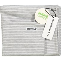 Geggamoja Bamboo Bedding for Carrycot and Cradle Grey Melange/White Grey/White