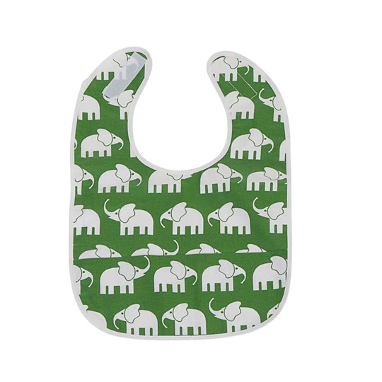 Rätt Start Cotton Bib Elephant Green Green