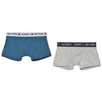 Tommy Hilfiger 2 Pack of Blue and Grey Branded Boxers 226
