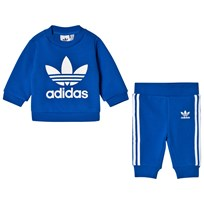 adidas Originals Blue Boys Logo Infants Sweater and Joggers Set Top:BLUE/WHITE Bottom:BLUE/WHITE
