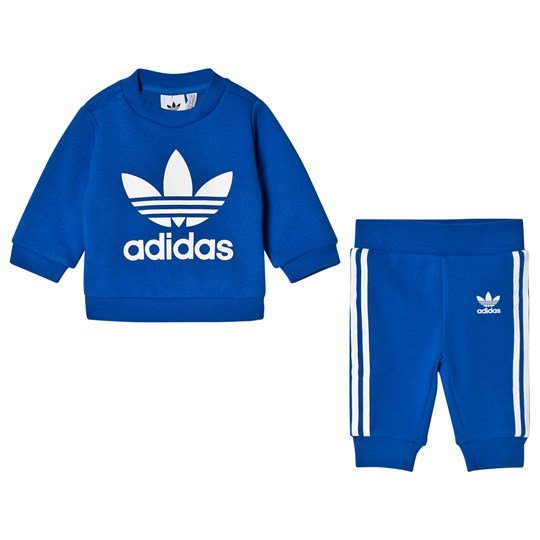 1d481c41b8eb adidas Originals Trefoil Crew Set Blue Top BLUE WHITE Bottom BLUE WHITE