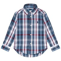 Ralph Lauren Blue Check Button Down Shirt with PP 001