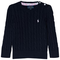 Ralph Lauren Navy Cotton Cable PP Jumper 004