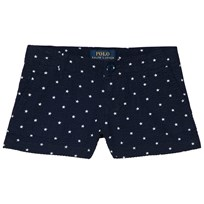 Ralph Lauren Navy Star Embroidered Shorts 001