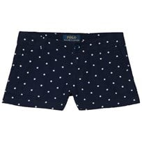 Ralph Lauren Summer Navy Cotton Seersucker Shorts 001