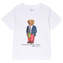 Ralph Lauren Preppy Bear Cotton T-Shirt White 001