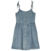 Ralph Lauren Blue Washed Denim Button Detail Dress 001