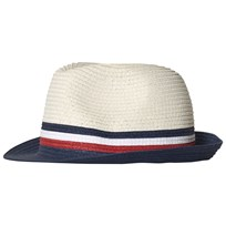 Tommy Hilfiger Beige, Navy and Red Straw Hat 901